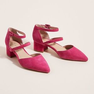 🎉HP🎉Anthropologie Piper Pink Suede Strappy Heels